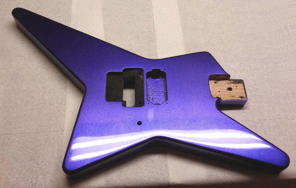 foto de Crown Royal Purple Metallic Paint Job on Your Guitar Body GuitarPaintGuys