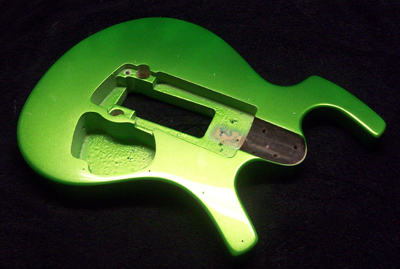 Lime Green Metallic Guitar