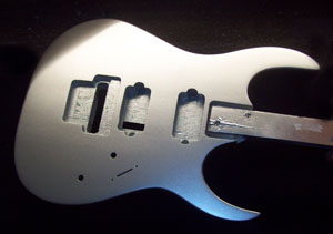 Brilliant Silver Metallic Guitar
