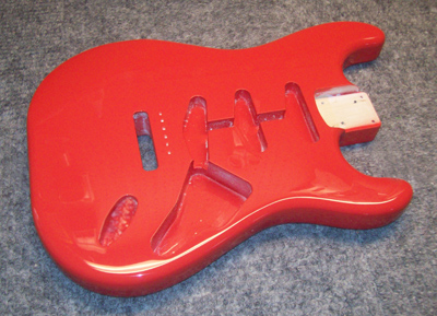 Fiesta Red Guitar