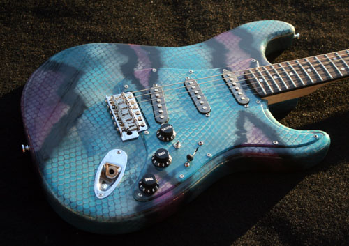 GuitarPaintGuys Serpent Custom Guitar Front 5
