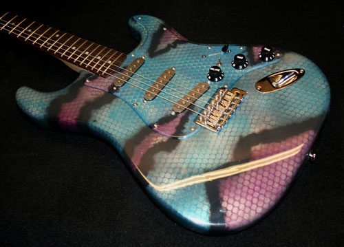 GuitarPaintGuys Serpent Custom Guitar Front 2