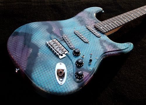 GuitarPaintGuys Serpent Custom Guitar Front