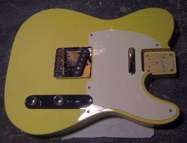 Vintage Yellow Guitar