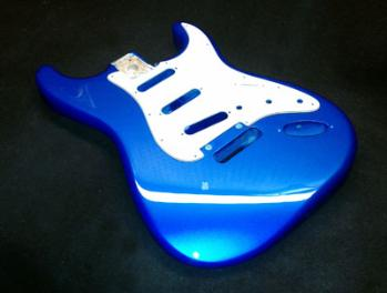 Chrome Blue Guitar