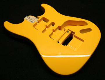 Orangy Yellow Custom Guitar