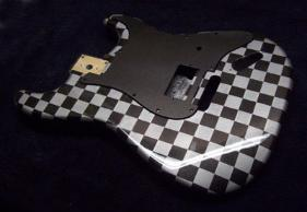 Checker Board Paint Job For Your Guitar Or Bass Body Offer Good Bolt On Neck Bodies Each Finish Is Unique