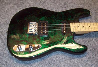 Blue Green Krazer Finish Guitar