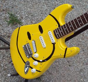 Flippin Smiley Guitar